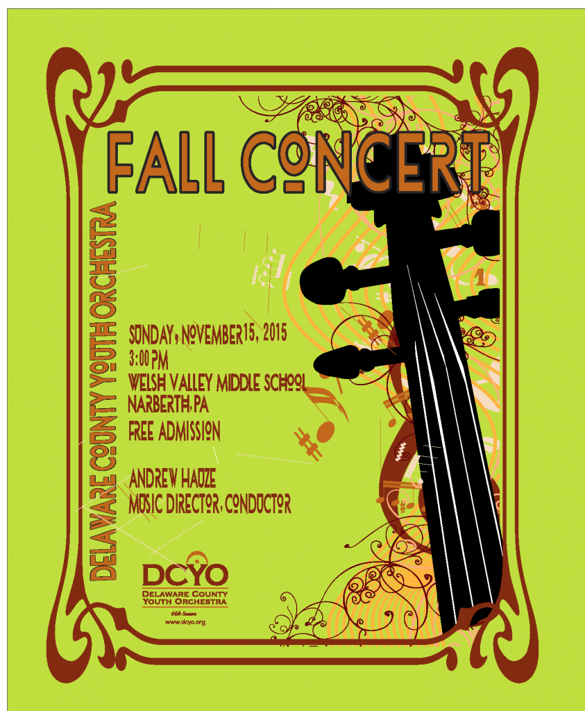 DCYO 2015 Fall Concert Poster