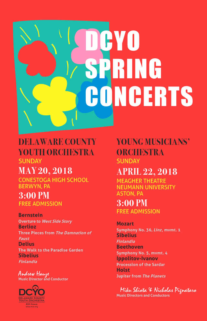 DCYO 2018 Spring Concert Poster