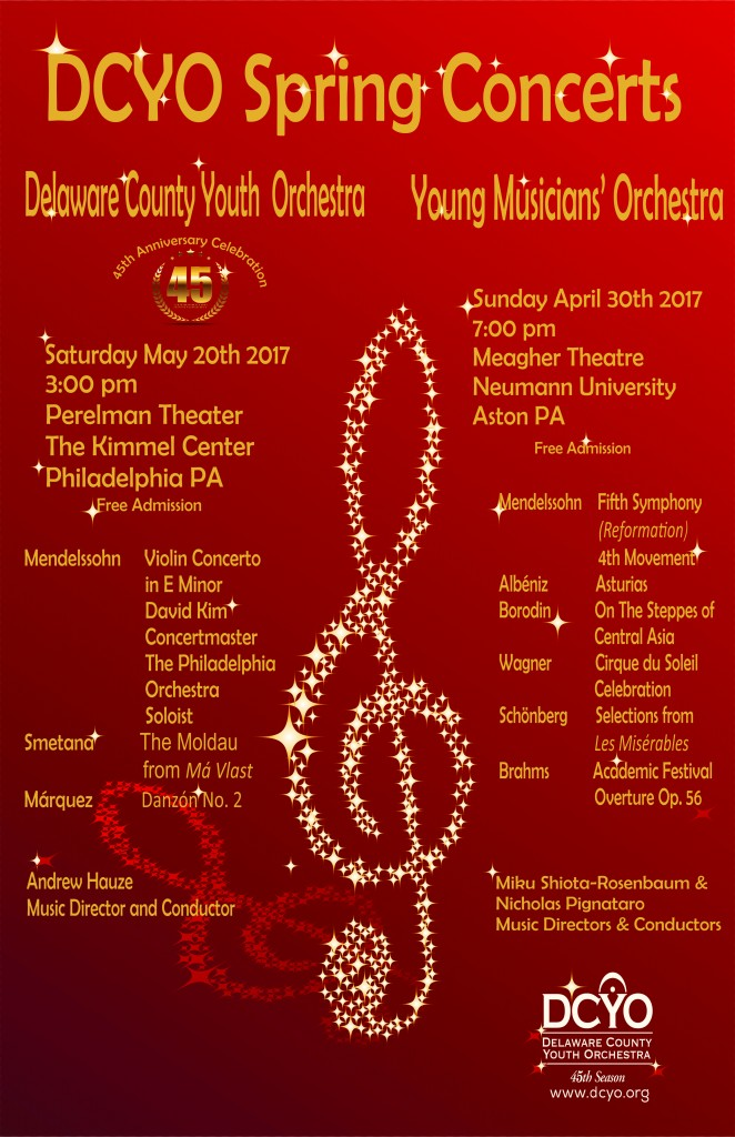 DCYO Spring 2017 Concert Poster