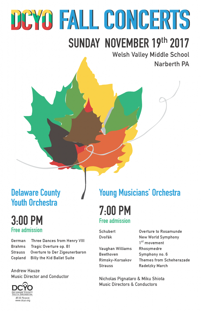 DCYO Fall 2017 Concert Poster