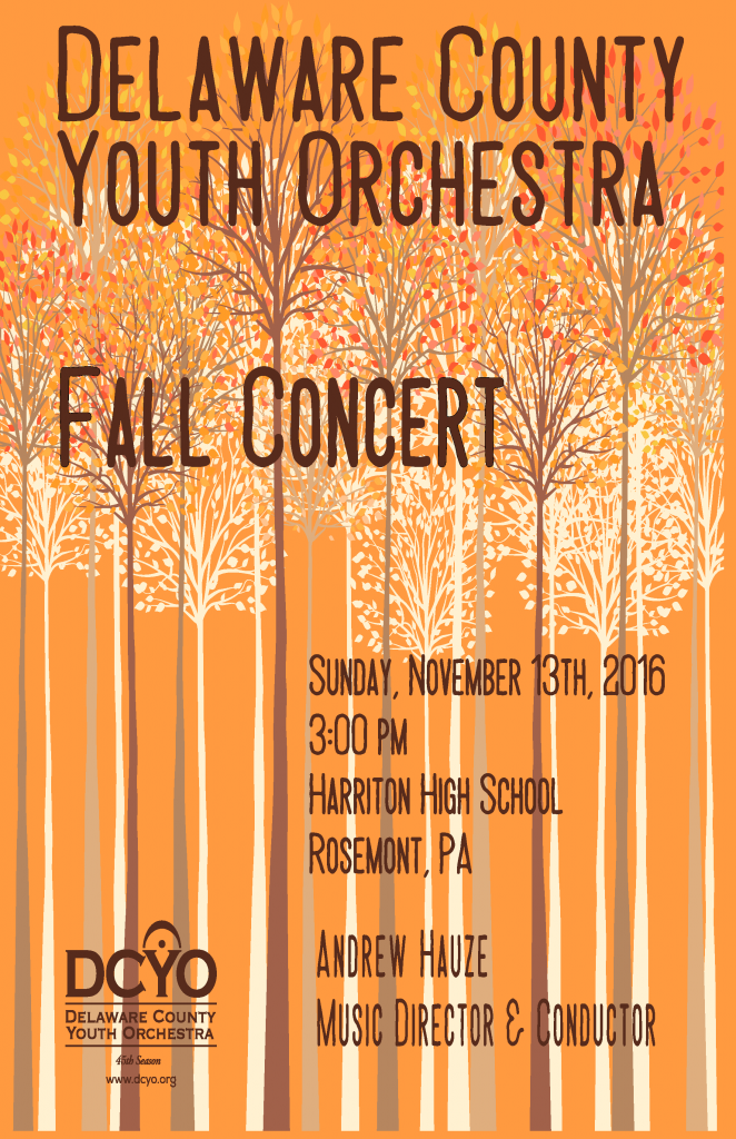 DCYO Fall 2016 Concert Poster