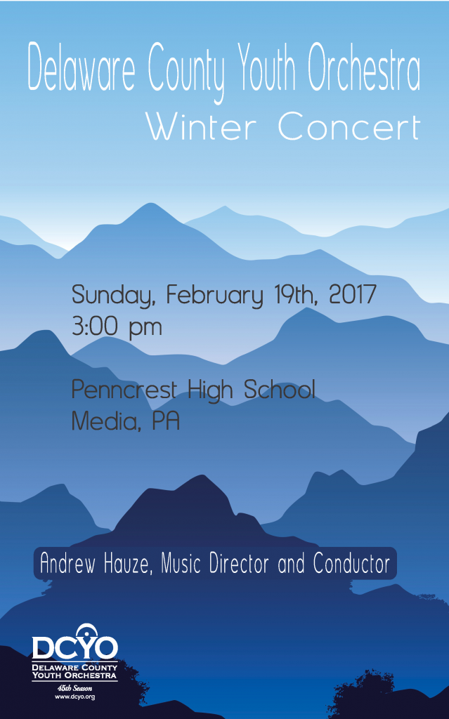 DCYO Winter Concert Poster 2017