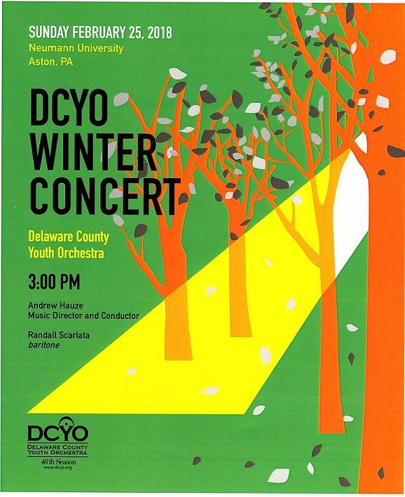 DCYO Winter 2018 Concert Program Cover